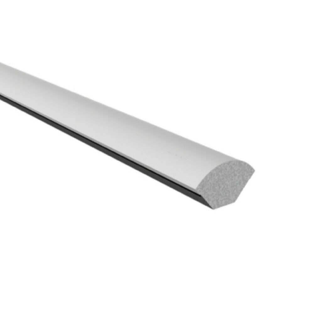 White 19mm quadrant upvc window trim x 1 2 metre in length for Window quadrant