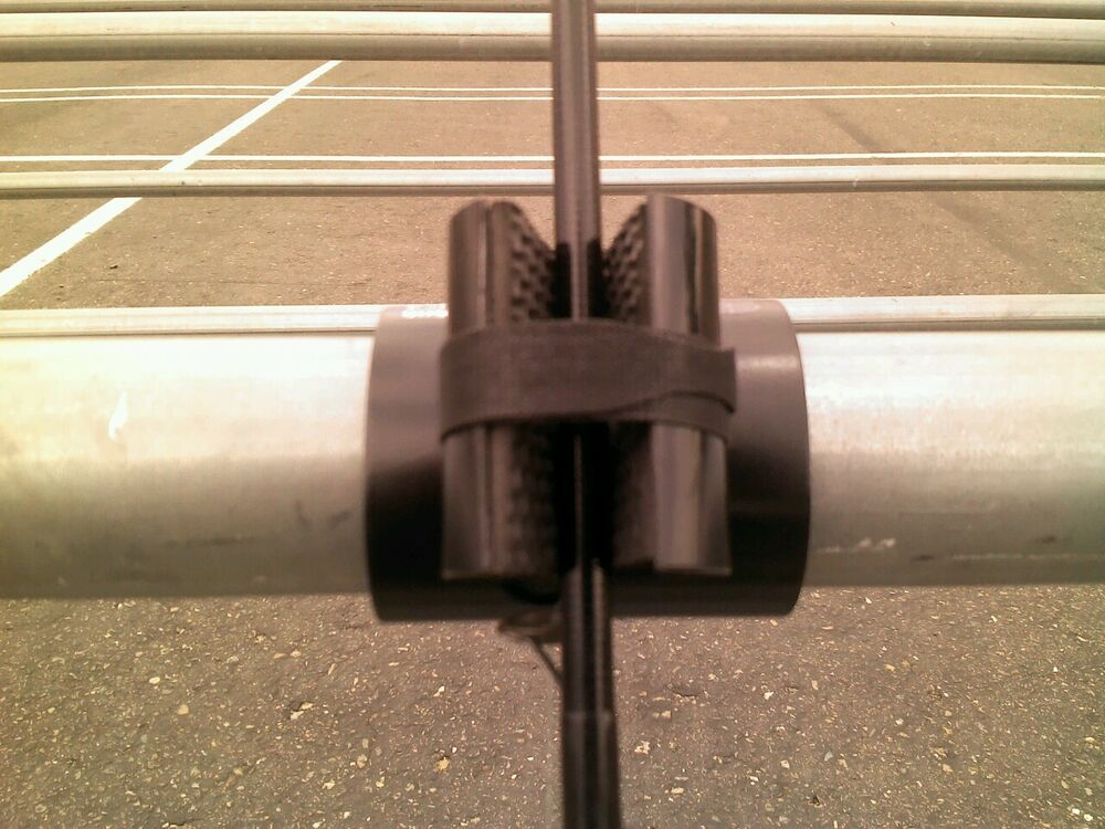 Fishing rod pole holder spinning or casting rods for pier for Pier fishing rod holder