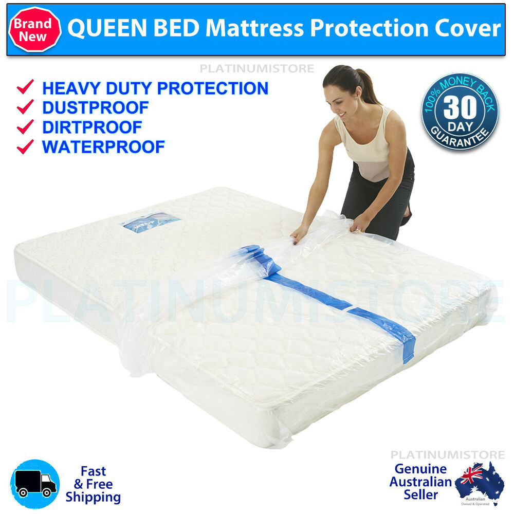 Queen Size Bed Plastic Mattress Protector Cover Moving