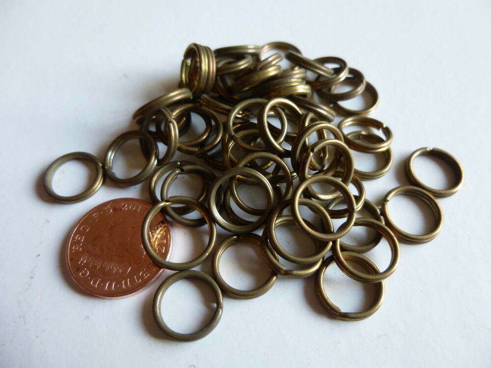 50 x 12mm 1 2 solid brass split key rings craft art for 3 inch rings for crafts