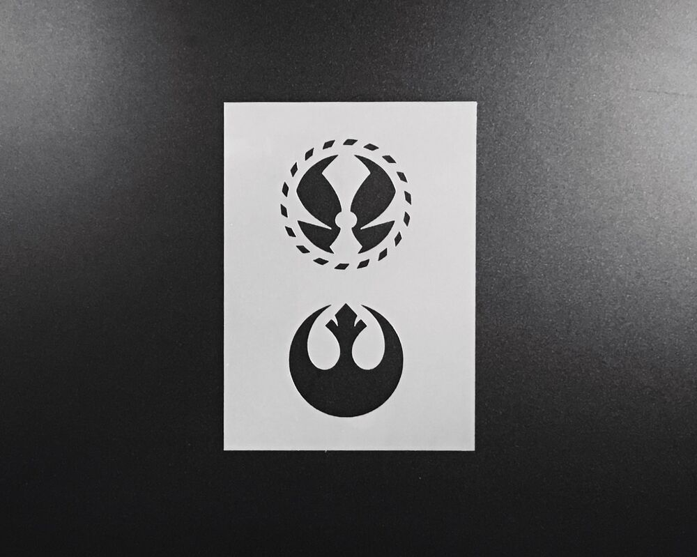 Star wars logo stencil airbrush wall art craft painting for Arts and crafts stencils craftsman