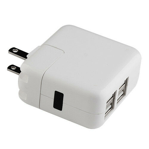 4 usb 12w power adapter wall charger for iphone 5 6 6. Black Bedroom Furniture Sets. Home Design Ideas