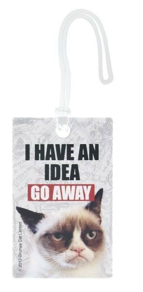 Grumpy Cat Luggage/ID tag _ I have an idea... GO AWAY ...