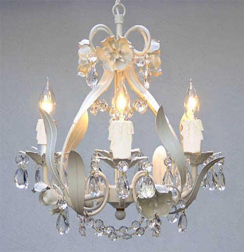 Wrought Iron Floral Chandelier Crystal Chandeliers