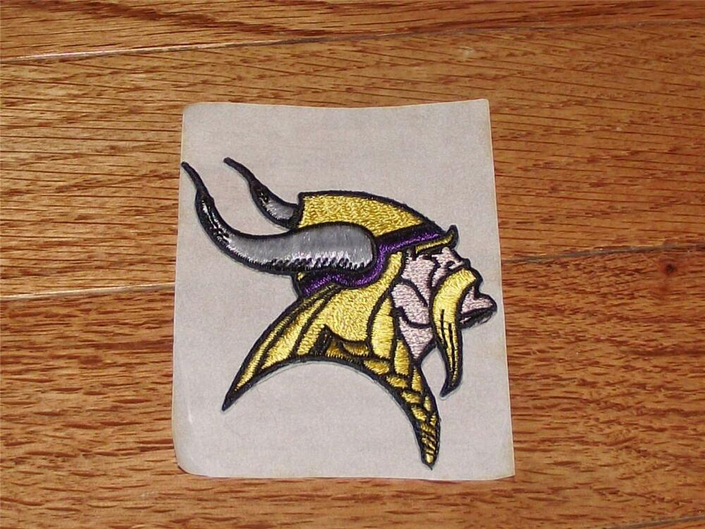 New minnesota vikings logo patch quot embroidered