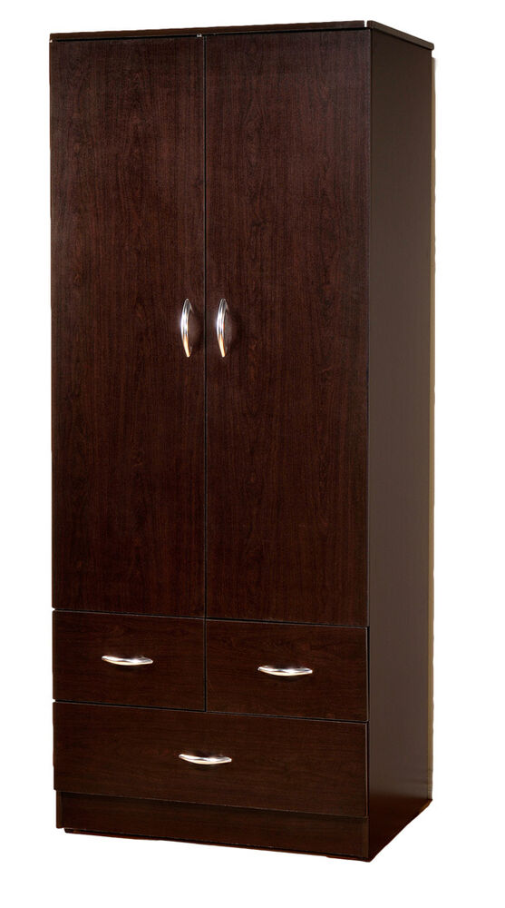 Wardrobe bedroom armoire with 2 doors and 3 drawers 7801 for 1 door wardrobe with drawers