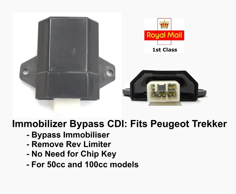 Immobiliser Chip Key Bypass Cdi For Peugeot Trekker 50cc
