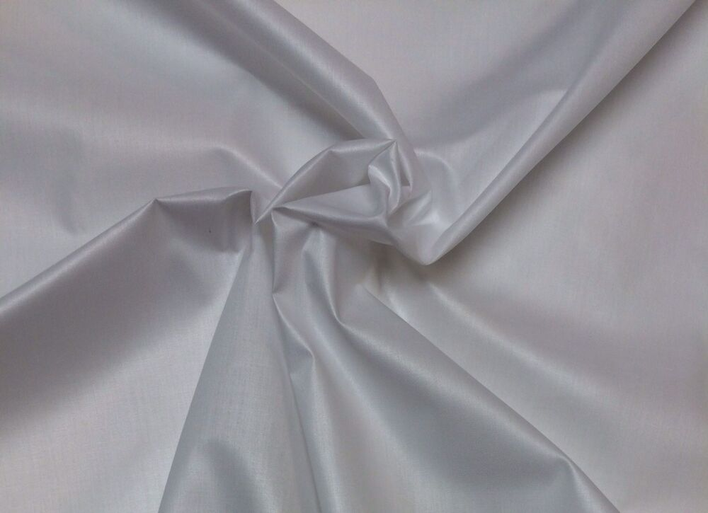 White Curtain Drapery Lining Backing Light Weight Fabric By The Yard 54 Wide Ebay