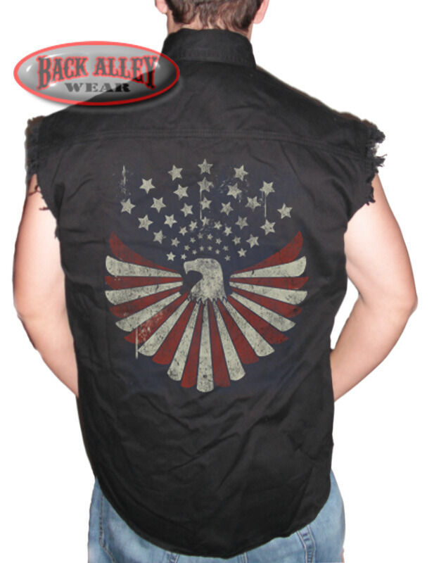 Denim Sleeveless Shirt Mens