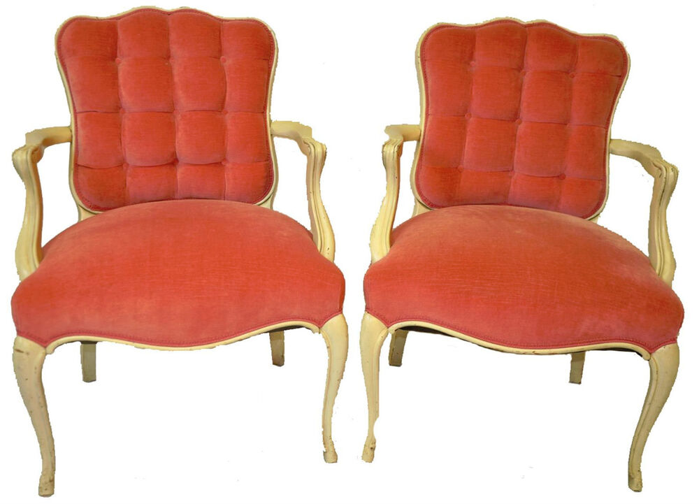 Decorative Arm Chairs ~ Vintage pair of country french style decorative arm chairs