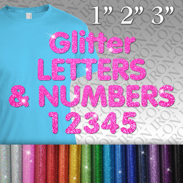 glitter iron on letters personalized glitter letters amp numbers iron on fabric 21955