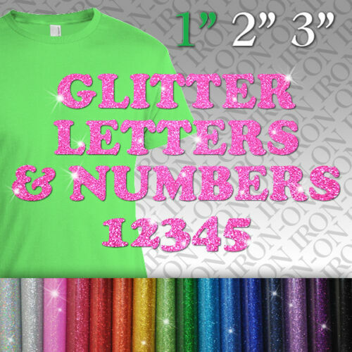 glitter iron on letters glitter letters amp numbers iron on tshirt fabric transfer 21955