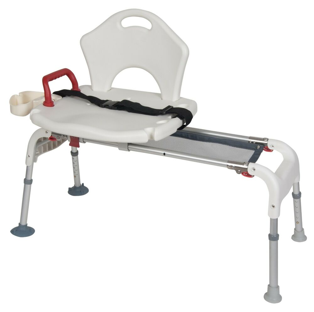 Bath tub transfer bench folding universal sliding shower chair seat rtl12075 ebay Transfer bath bench