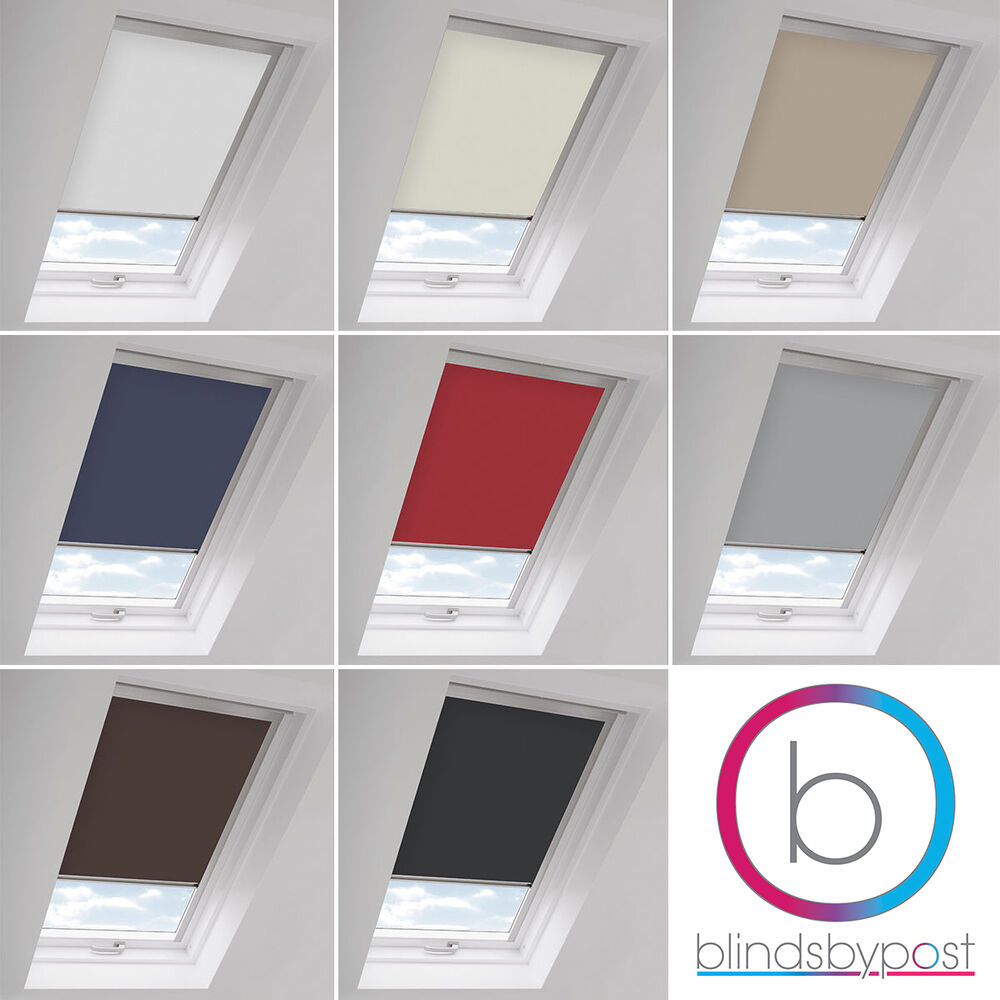 Blackout roof roller blinds for velux window new ck fk for Velux window shades