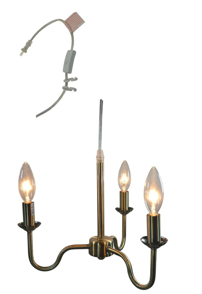 Urbanest Shire 3 Light Plug In Portable Chandelier 5