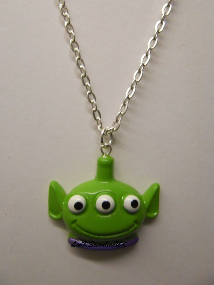 toy story  three eyed alien 3d pendant with 18 u0026quot  silver