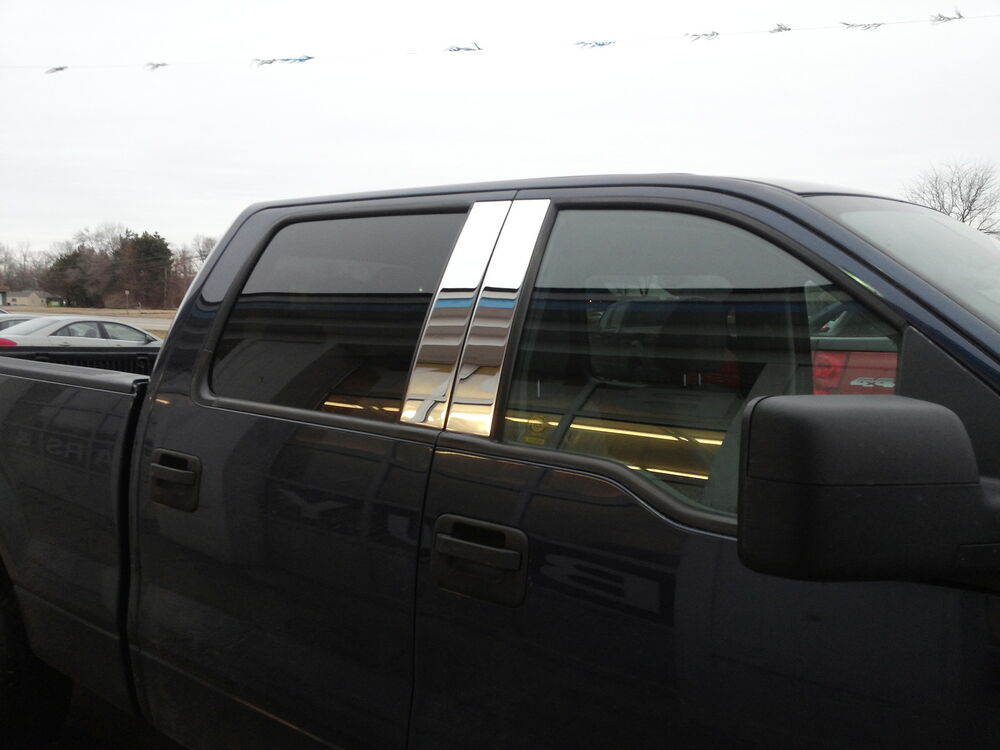 Ford F150 Crew Cab >> FORD F150 CHROME B PILLARS FOR 2004-2014 4 PIECE SET | eBay