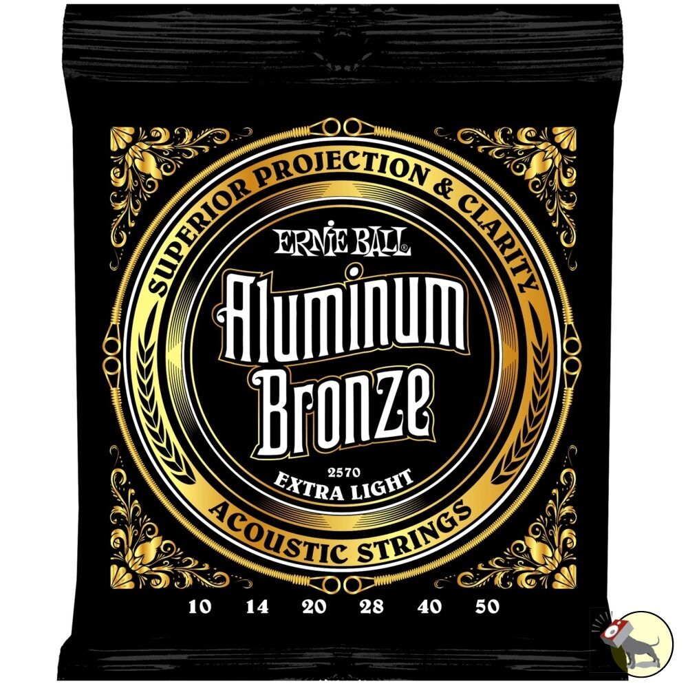 ernie ball 2570 aluminum bronze acoustic guitar strings extra light 10 50 ebay. Black Bedroom Furniture Sets. Home Design Ideas
