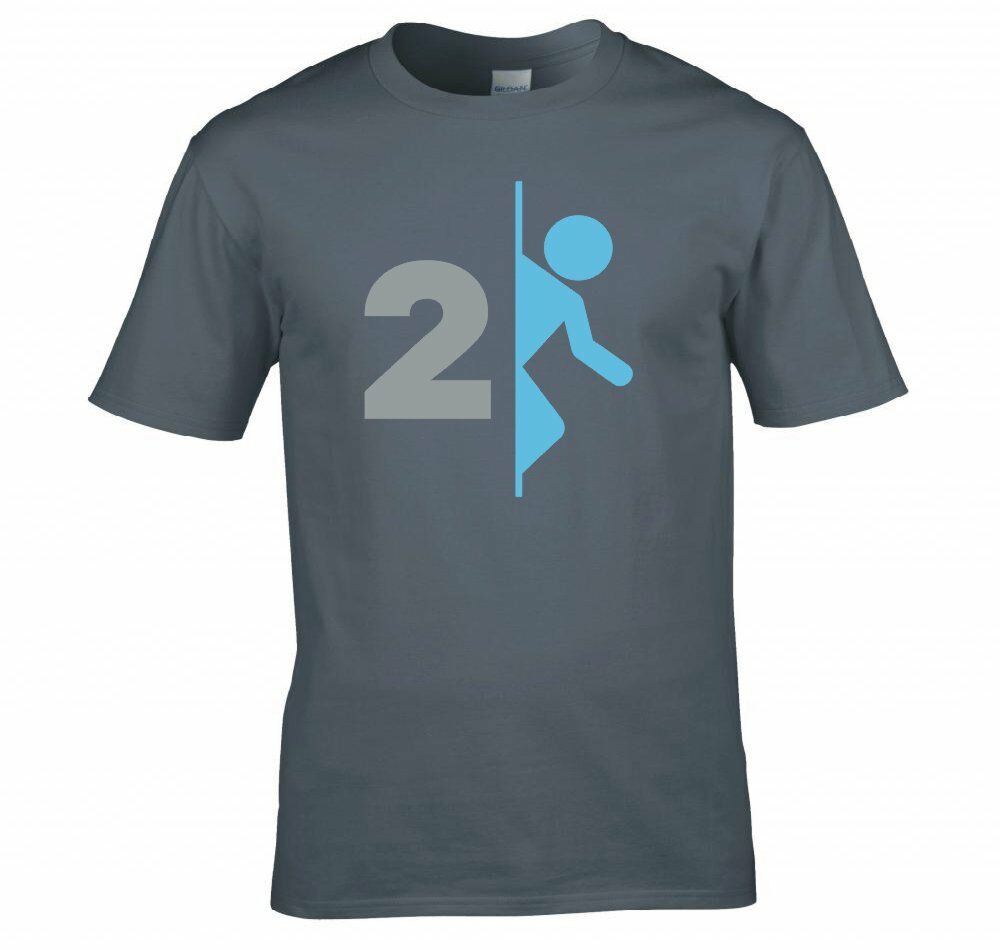 Portal 2 aperture laboratories game logo t shirt new for Game t shirts uk