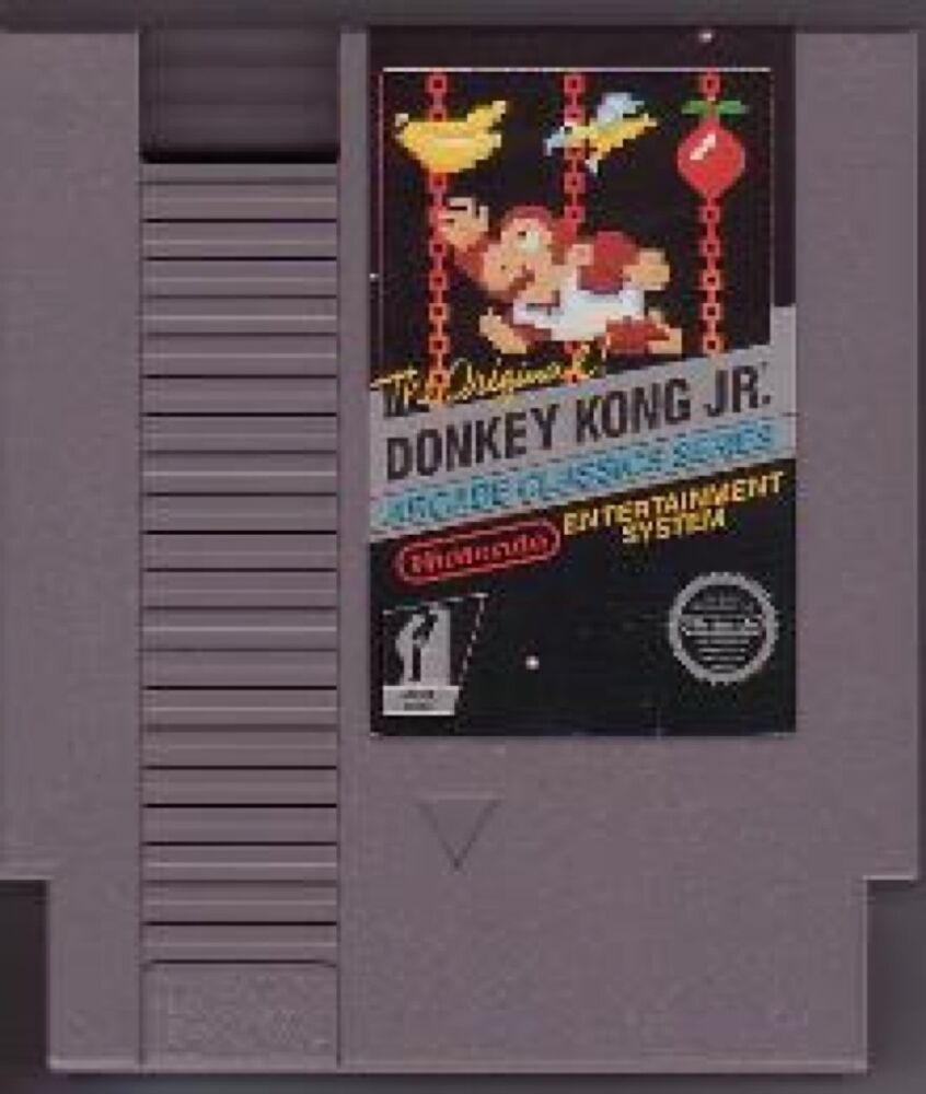 donkey kong jr junior nintendo system game original nes hq 910182910182 ebay. Black Bedroom Furniture Sets. Home Design Ideas