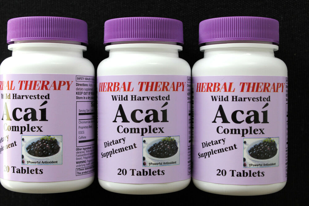 ACAI BERRY complex Dietary Supplement Antioxidant Wild Harvested Lot of 3 | eBay