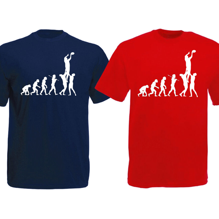Evolution Of Rugby T Shirt Ape To Rugby Player Funny
