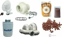 100mm InLine Fan Carbon Filter Duct Kit Hydroponic Grow Room Tent Ventilation