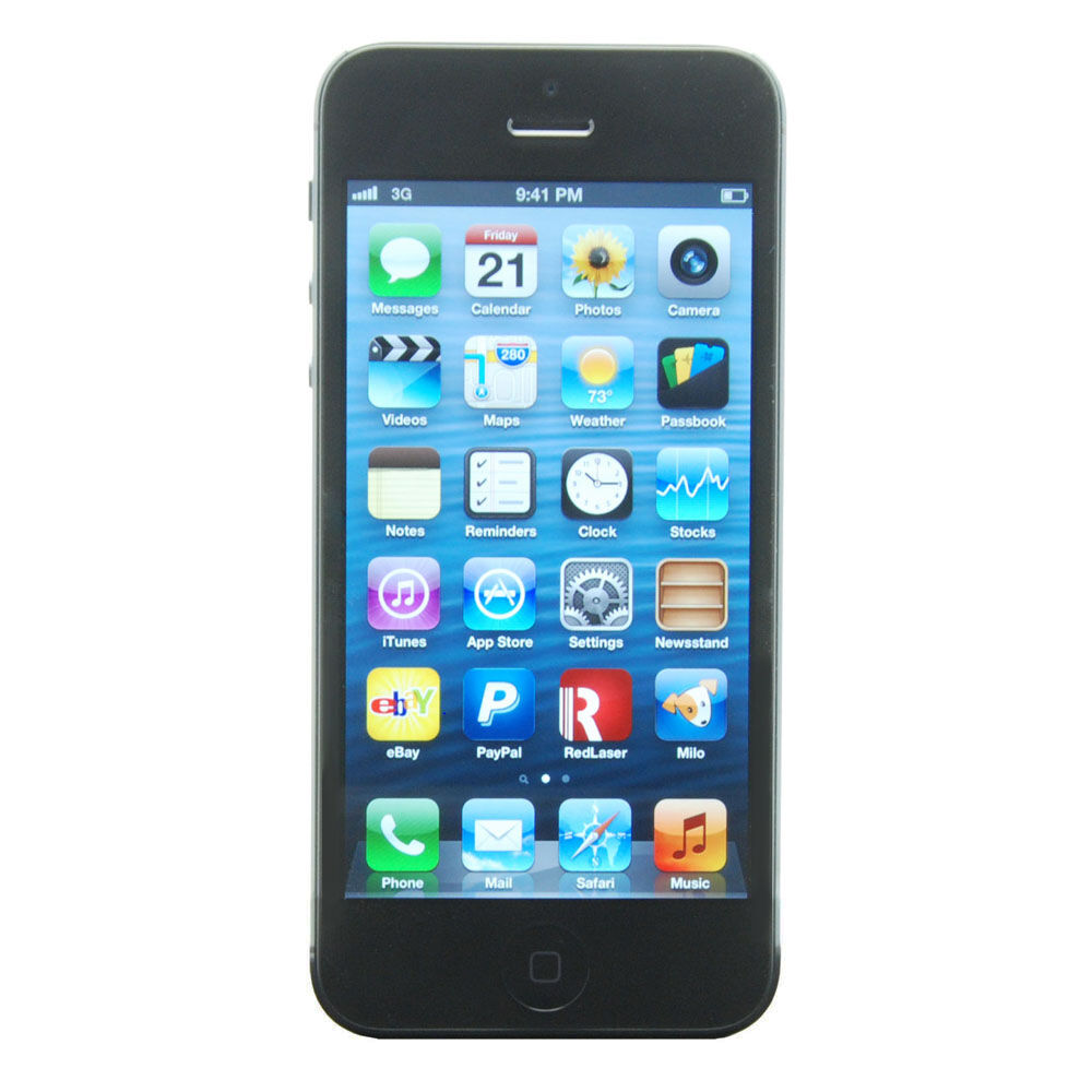 brand new apple iphone 5 black 32gb factory unlocked. Black Bedroom Furniture Sets. Home Design Ideas