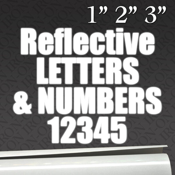 reflective letters numbers iron on fabric transfer custom With reflective fabric letters