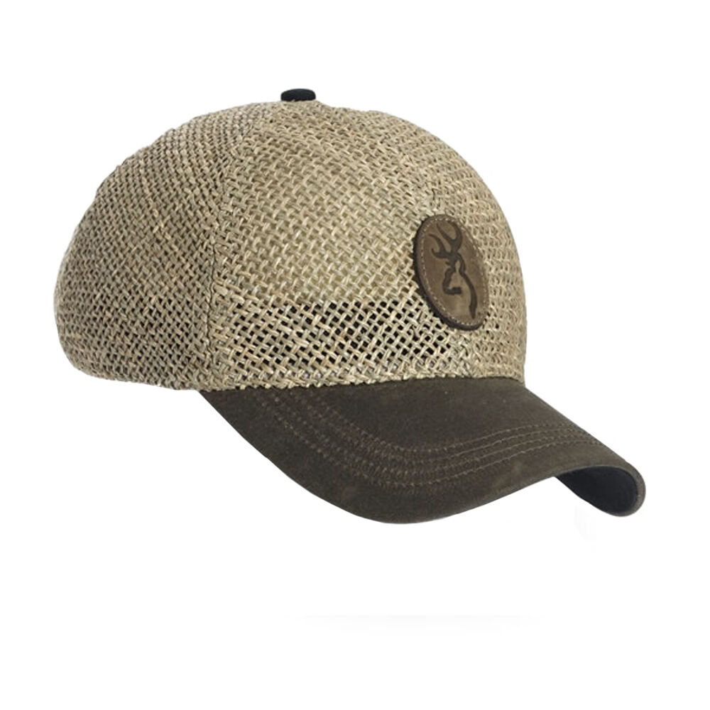 browning straw baseball cap outdoor brown hat free