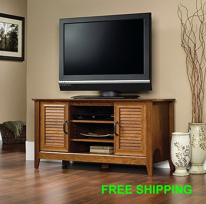 TV Stand Entertainment Center Media Furniture Console Wood