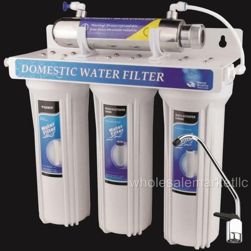 4 Stage Drinking Water Filter Uv Ultraviolet Light