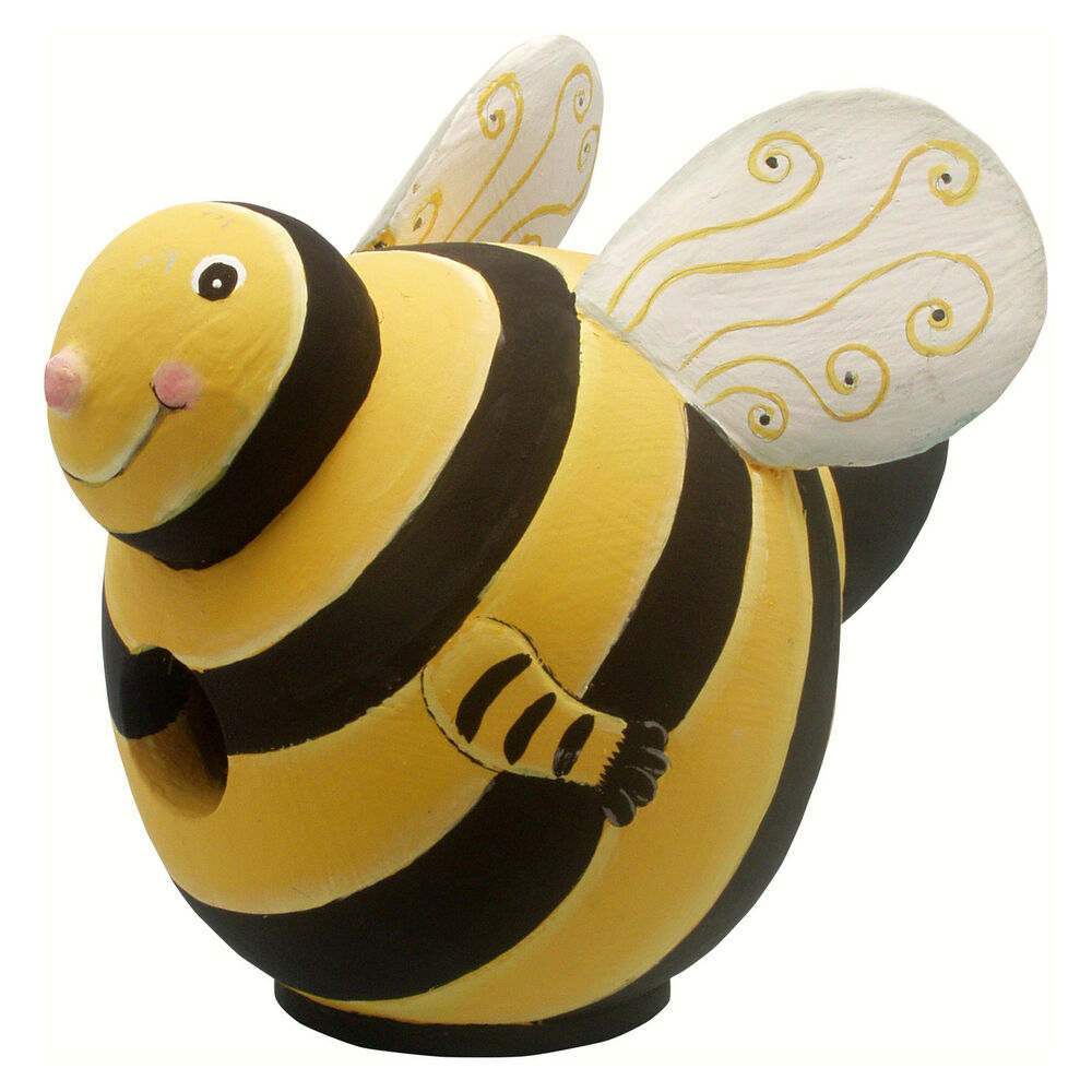 Bird houses bumble bee birdhouse bumblebee bird house for Bee decorations for the home