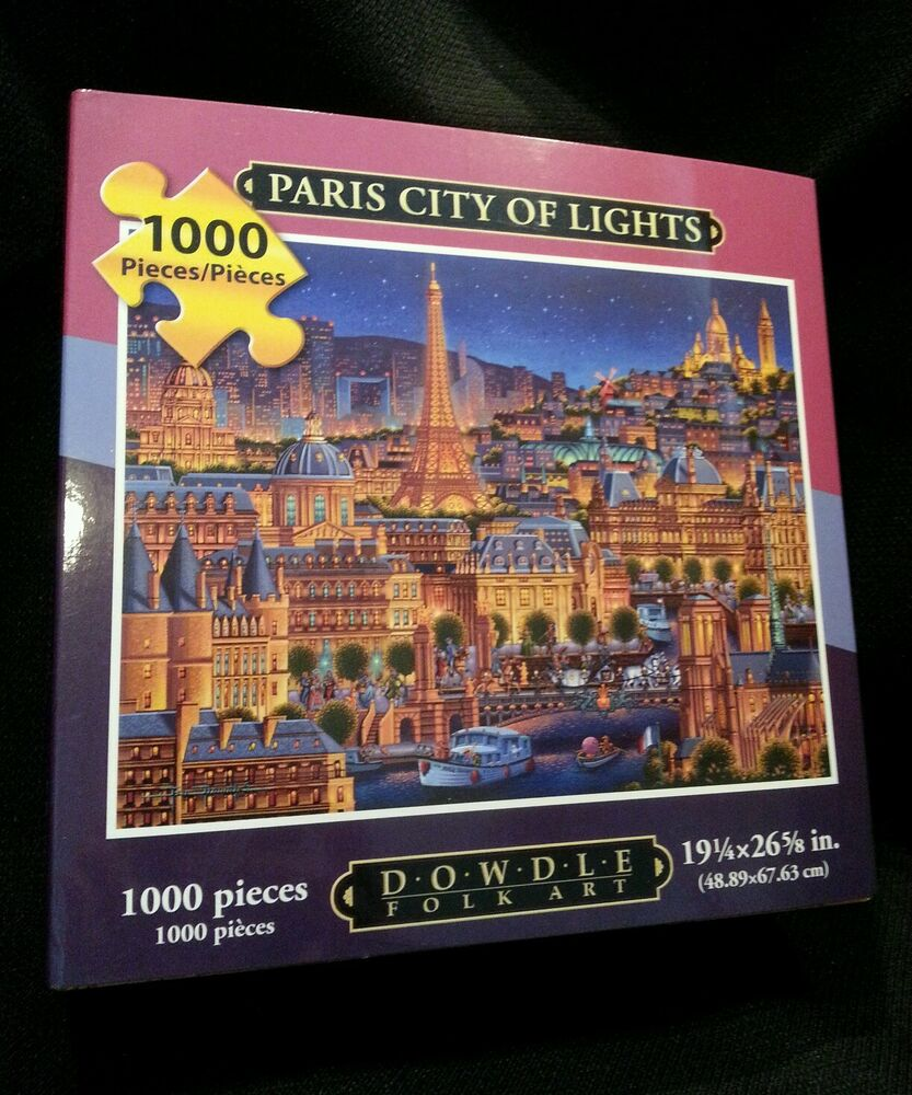 Paris The City Of Light: PARIS CITY OF LIGHTS NEW BOXED DOWDLE FOLK COLLECTOR