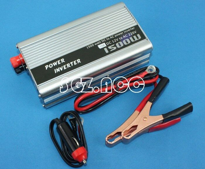 1500w car battery power inverter auto dc 12v to ac 220v adapter voltage watt 230 ebay. Black Bedroom Furniture Sets. Home Design Ideas