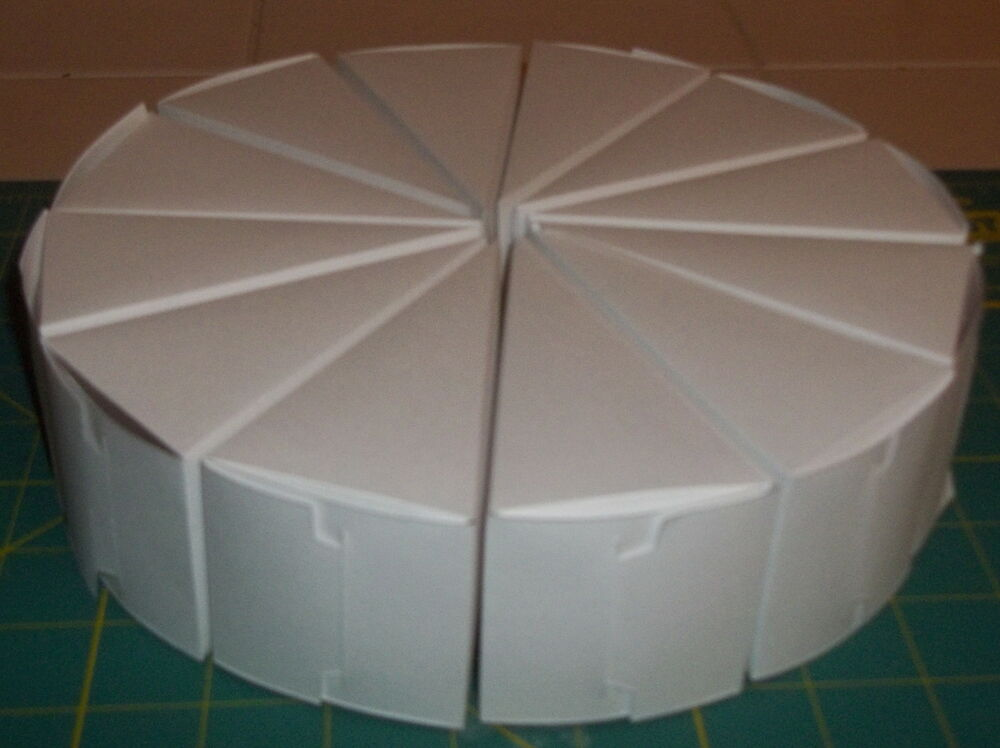 Cake Slice Centerpiece 8 5 Favor Boxes Pack Of 12 Wedding