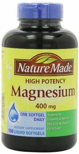 Nature made high potency magnesium 400 mg
