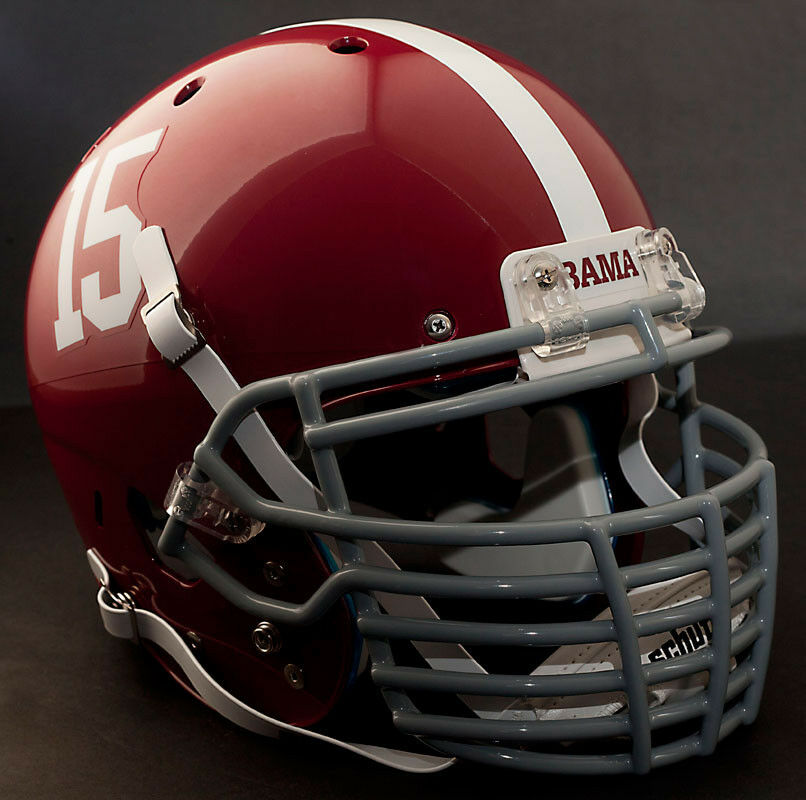 Football Helmet Grill : Custom alabama crimson tide schutt air xp authentic