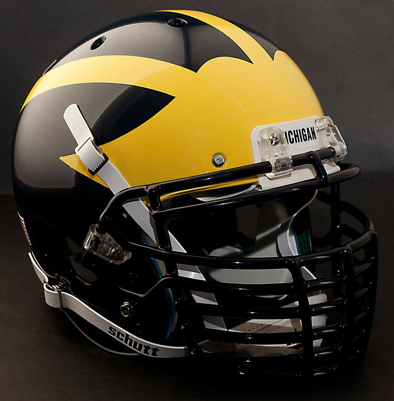 Football Helmet Grill : Custom michigan wolverines schutt air xp authentic