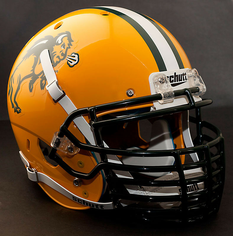 Football Helmet Grill : Custom north dakota state bison schutt xp authentic