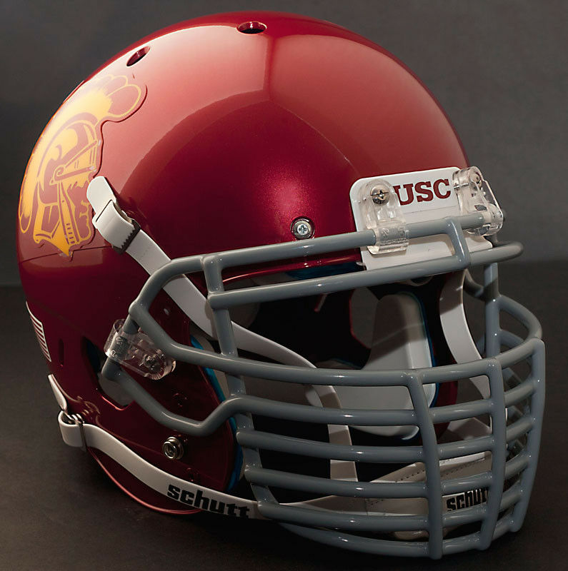 Football Helmet Grill : Custom usc trojans schutt air xp authentic football