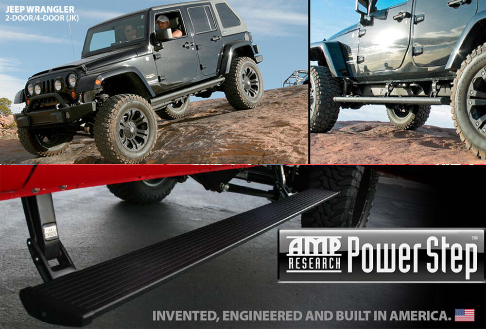 amp research power step trittbrett jeep wrangler 2 4 door. Black Bedroom Furniture Sets. Home Design Ideas