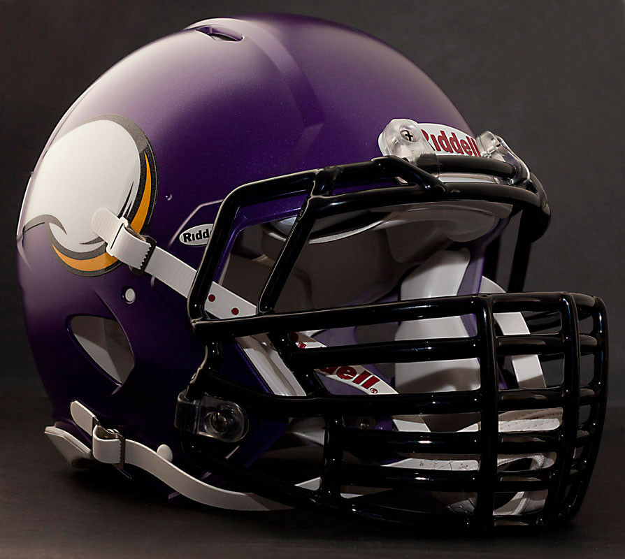 Football Helmet Grill : Minnesota vikings nfl riddell speed football helmet with