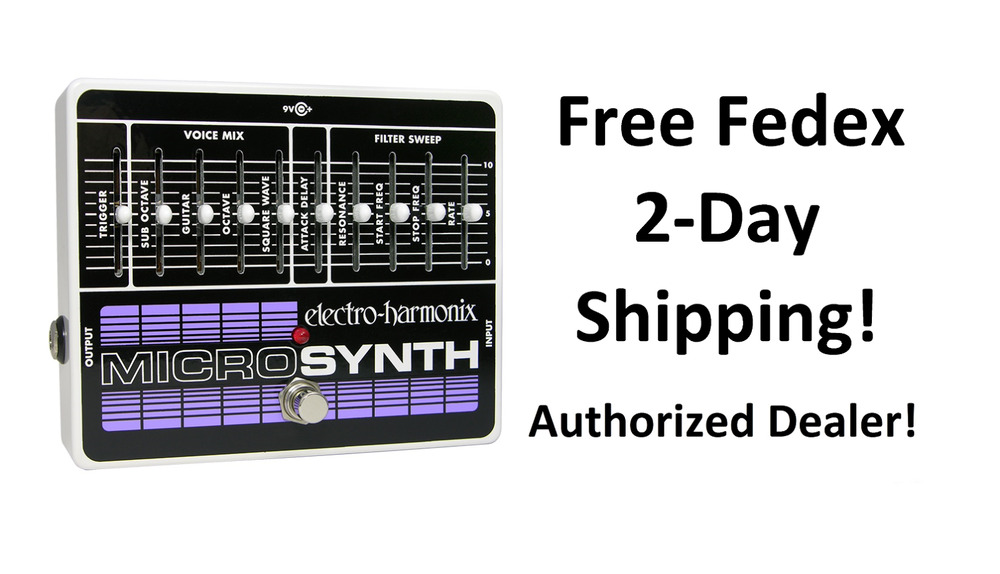 new electro harmonix ehx microsynth analog guitar microsynthesizer pedal 683274010793 ebay. Black Bedroom Furniture Sets. Home Design Ideas