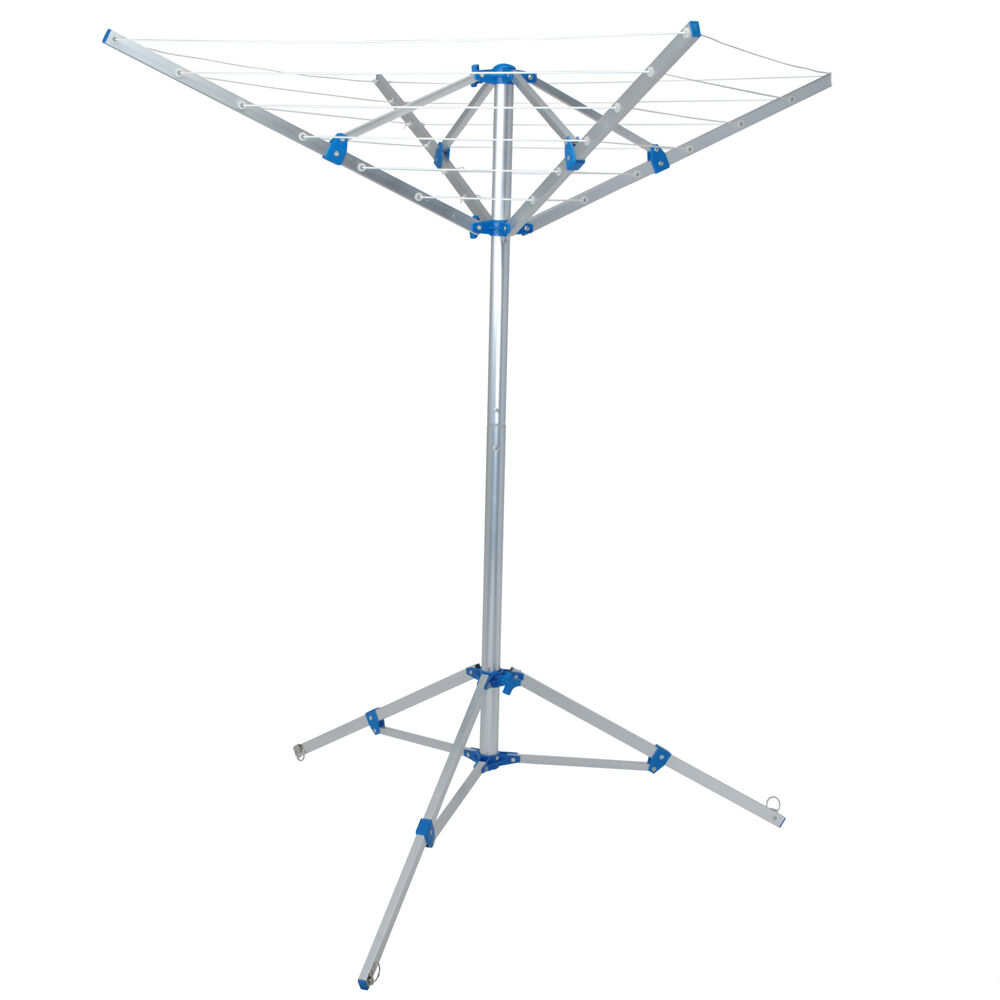 4 arm rotary folding airer stand feet home caravan. Black Bedroom Furniture Sets. Home Design Ideas