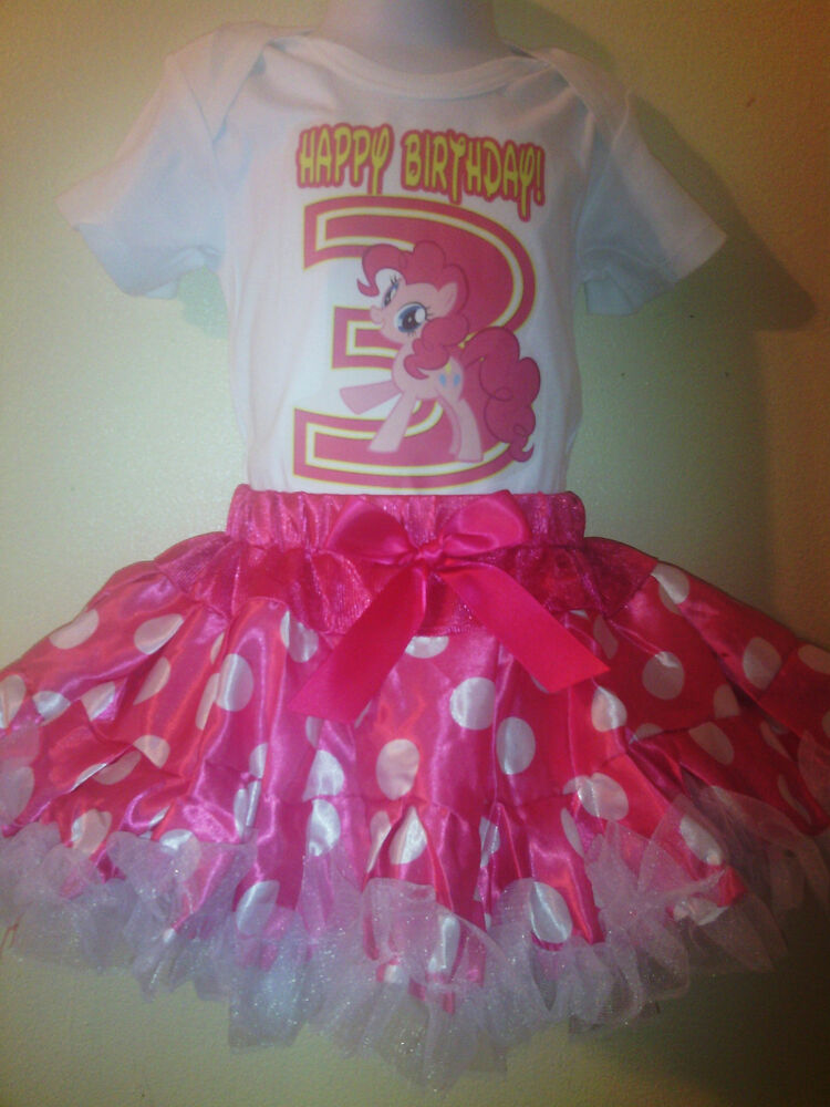 My little pony dress birthday number 2pc tutuset pink 1t 2t 3t 4t 5t