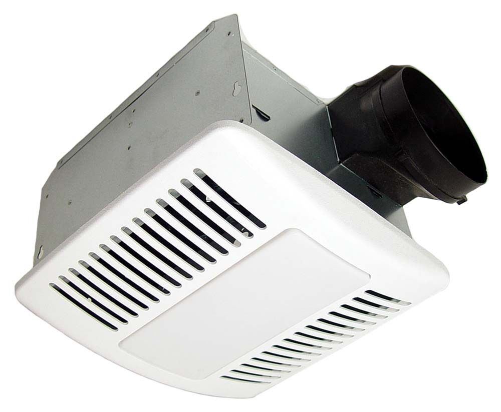 Kaze appliance se90tl ultra quiet bathroom ventilation fan - Ductless bathroom exhaust fan with light ...