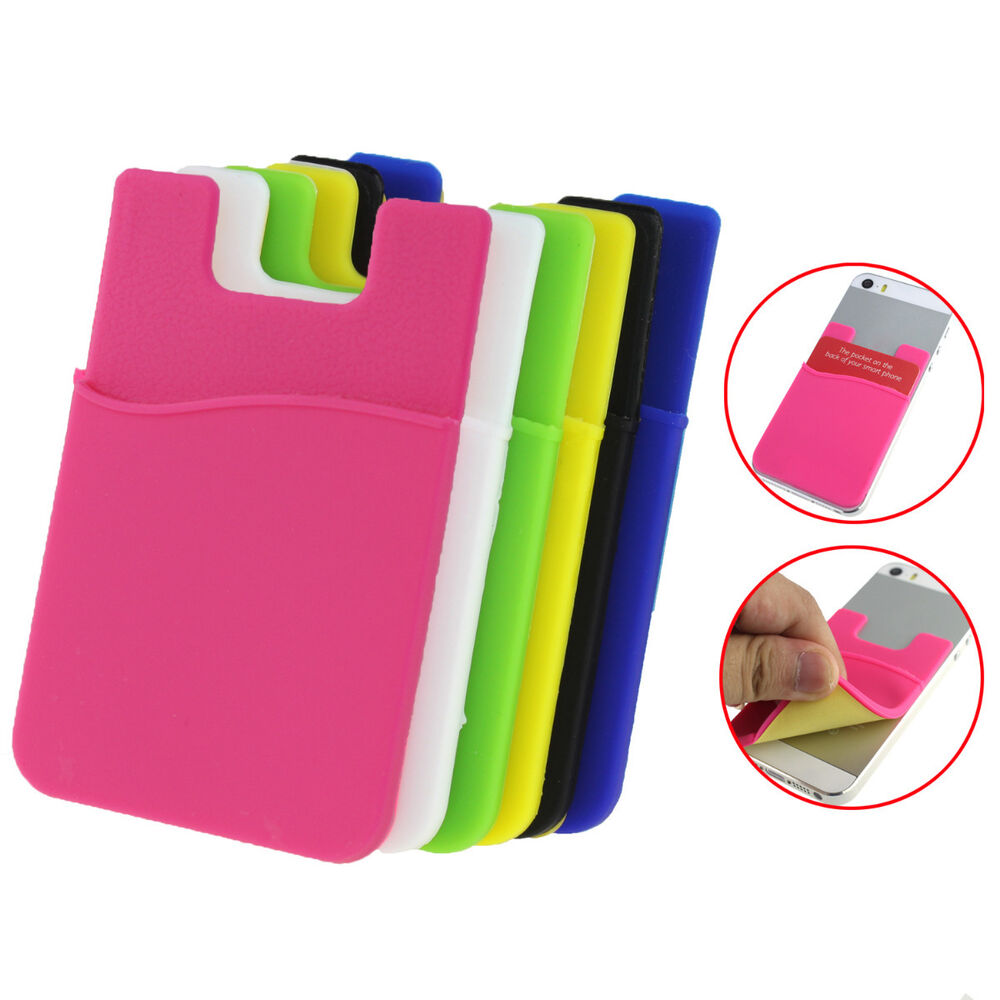 ... Back Cover Card Holder Pouch For iPhone Samsung Cell Phone : eBay