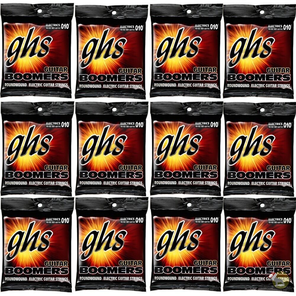 12 pack ghs electric boomers gbtnt thin thick nickel steel guitar strings 10 52 ebay. Black Bedroom Furniture Sets. Home Design Ideas