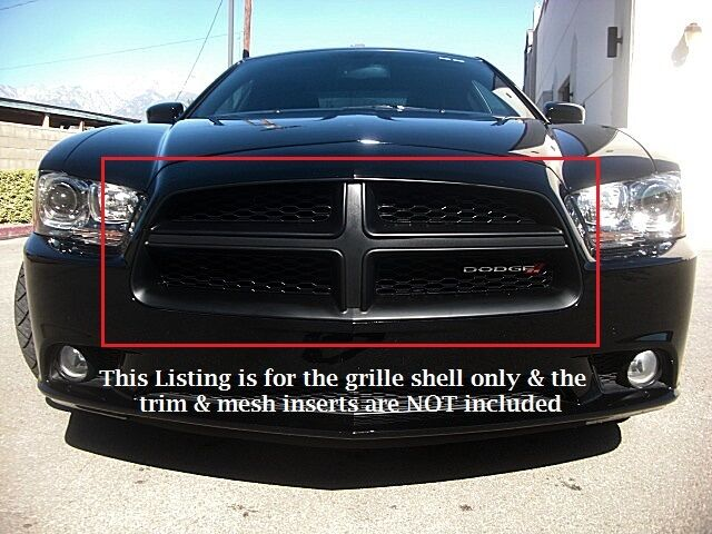 dodge charger matte black front grille se sxt rt 2011 2012 2013 2014 11 12 13 14 ebay. Black Bedroom Furniture Sets. Home Design Ideas